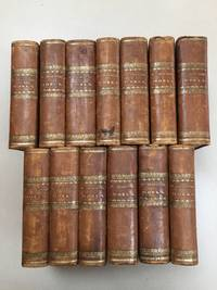 The Works (Plays) of Shakespeare, Bell's Edition, 13 volumes, 1785-1787. Wth 36 plays in 9 volumes, three volumes of 'Annotations' by Steevens and Johnson, and a Prolegomena volume publishing much on Shakespeare's life and the development of drama from classical times to Shakespeare's era