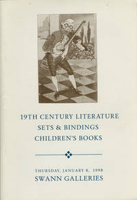 19th century literature, sets & bindings. Cruikshank, Dickens, James, Longfellow, Swift, Thakeray, Thoreau, including first editions in original parts. Children's books, including movables, transformation and pop-ups lots 48-121 and featuring movable books by Lothar Meggendorfer, lots 67-73. January 8, 1998