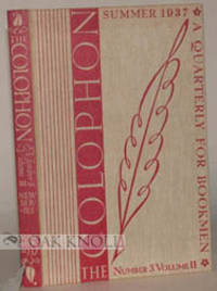 New York: The Colophon Ltd, 1937. cloth. 8vo. cloth. pp. vi, 317-479+(1). McKinley Kantor writing ab...