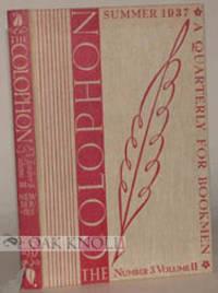 COLOPHON, N.S., A Q FOR BKMEN, V.II N.3