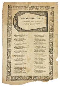 Abr'm Prescott's Confession of the Murder of Mrs. Sally Cochran..