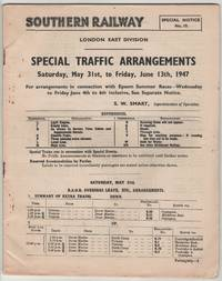 Special Traffic Arrangements London East Division Saturday, May 31st, to Friday, June 13th, 1947