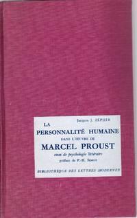 La personnalité humaine dans l'oeuvre de Marcel Proust.