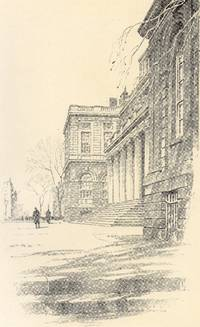 Fine Original 1922 Print of City Hall in New York City by O. R. Eggers