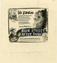 image of Main Street After Dark (Archive of concept art sketches for advertisements promoting the film's original release)