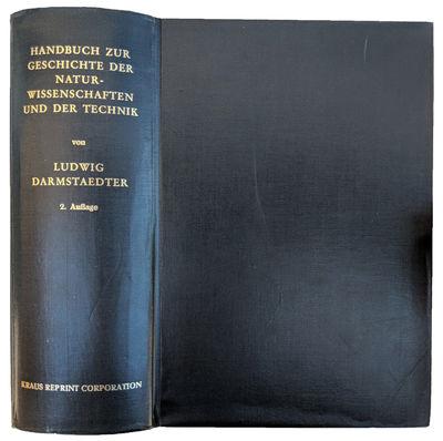 Berlin:: Kraus, 1960., 1960. Thick 8vo. x, , 1262, pp. Index; 6 ff. (index) creased. Slate-black gil...