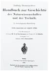 View Image 2 of 2 for Ludwig Darmstaedters Handbuch zur Geschichte der Naturwissenschaften und der Technik; in chronologis... Inventory #EEG1040