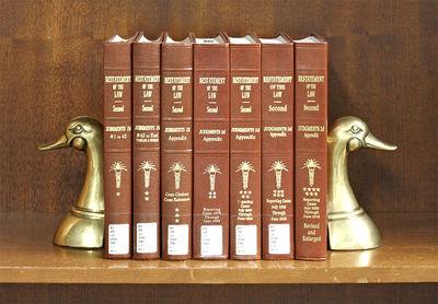 2018. Restatement of the Law Second. Judgments. Vols. 1-2 & Appendix. Vols. 3-6. Reporters: Geoffrey...