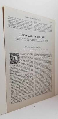 image of Article: Saskia and Rembrandt