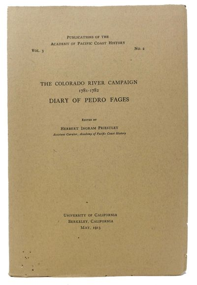 Berkeley CA: University of California, 1913. 1st edition. Printed brown wrappers, stapled. Fine.. 10...