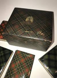 image of MAUCHLINEWARE TARTANWARE IN THE ORIGINAL CASE. Sir Walter Scott's Poetry, Mauchline Tartan