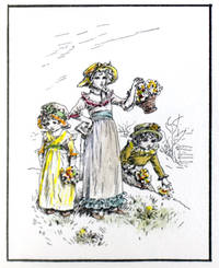 Drawings by Kate Greenaway, Verses by Laura E. Richards. From Ladies' Home Journal, 1895 and 1896