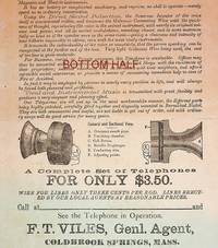 [ Advertising broadside ] No More Monopoly by the Bell Telephone Company ... Holcomb's Patent Acoustic Speaking Telephone ..