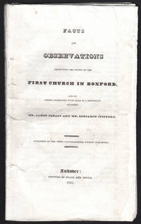 image of Facts and Observations Reflecting on the Doings of the First Church in Boxford, and of others connected with them in a difficulty between Mr. Aaron Perley and Mr. Benjamin Spofford.