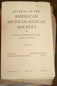 Journal of the American Musicological Society. Volume XLVIII Fall 1995, Number 3