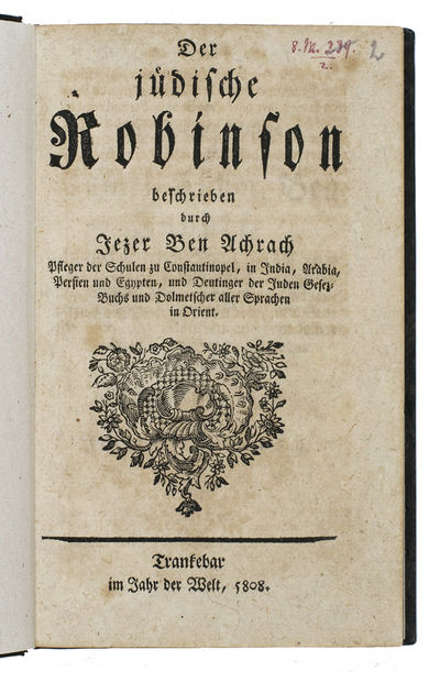 Der j�dische Robinson beschrieben...