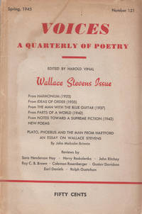 Wallace Stevens Issue - Voices A Quarterly of Poetry - Number 121