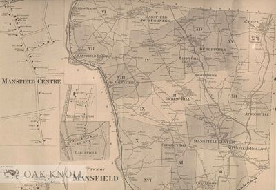N.P.: n.p., n.d.. Maps. broadside (13 1/4 by 20 3/4 inches). Reproduction of a map of Mansfield, Con...