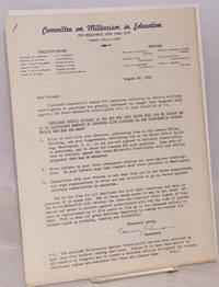 Declaration Against Conscription [with cover letter]