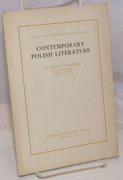 Warsaw: Polonia Publishing House, 1955. 35p., wraps, 5.75 x 8 inches, wraps worn and soiled, front w...