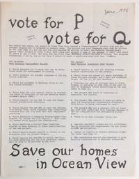 Vote for P, vote for q / Save our homes in Ocean View