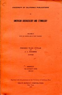 University of California Publications in American Archaeology and Ethnology, Volume 8