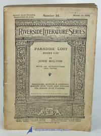 Paradise Lost: Books I-III (No. 94, The Riverside Literature Series)