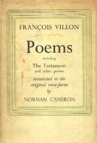 Poems, Including the Testament and Other Poems