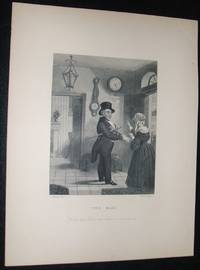 image of Original 1870 Antique Engraving Titled the Man by R. Armstrong