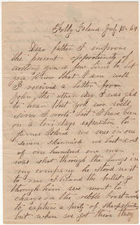 Union soldier's detailed Civil War letter describing combat during the Battle of Bloody Bridge outside of Charleston, South Carolina