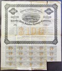 United States of America, State of Virginia. Fauquier White Sulphur Springs Company, $100 Engraved Mortgage Bond.