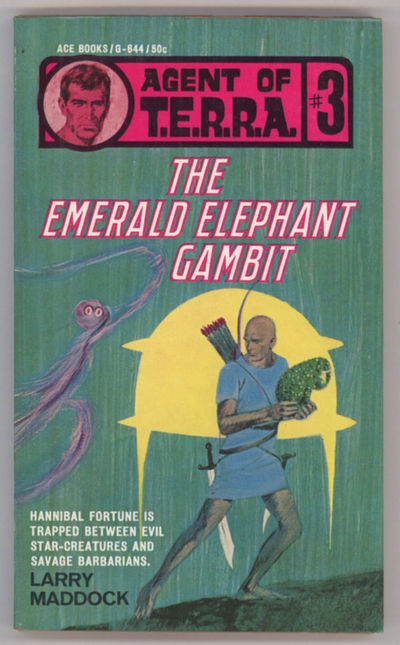 New York: Ace Books, 1967. Small octavo, pictorial wrappers. First edition. Ace Books G644. T.E.R.R....