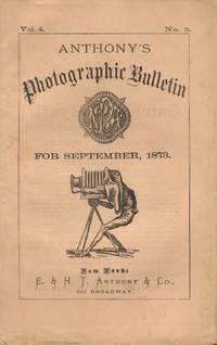 ANTHONY'S PHOTOGRAPHIC BULLETIN