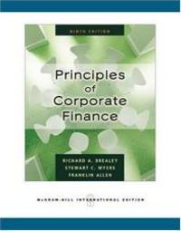Principles of Corporate Finance by Richard A. Brealey - Paperback - 2008-02-07 - from Books Express and Biblio.com