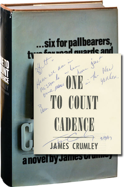 New York: Random House, 1969. First Edition. First Edition. INSCRIBED by James Crumley on the title ...