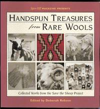 image of HANDSPUN TREASURES FROM RARE WOOLS.  COLLECTED WORKS FROM THE SAVE THE SHEEP PROJECT.