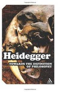 Towards the Definition of Philosophy (Impacts) by Martin Heidegger - Paperback - 2008-07-03 - from Books Express (SKU: 1847063047n)