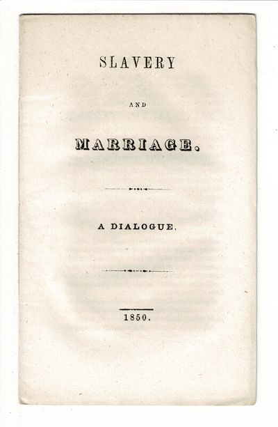 , 1850. First edition, small 8vo, pp. 14, ; printed self-wrappers; unopened and untrimmed, fine. Gen...