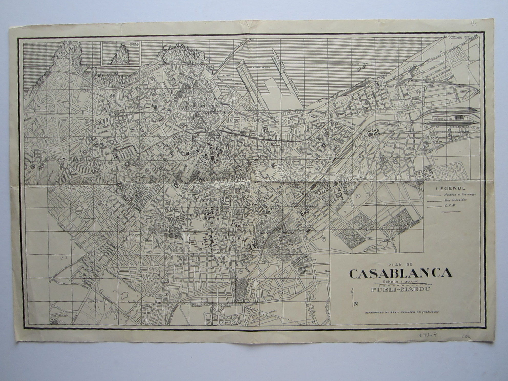 Plan de Casablanca … Reproduced by 954th Engineer Co. (TOP) (AVN) (photo 2)