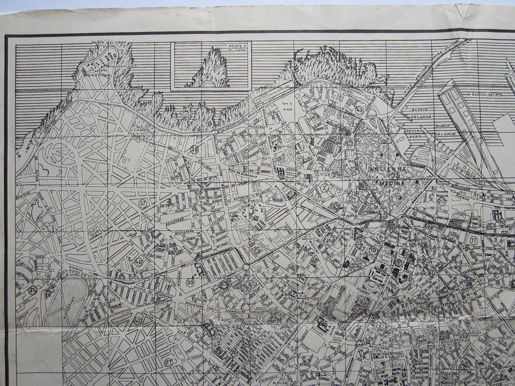 Plan de Casablanca … Reproduced by 954th Engineer Co. (TOP) (AVN) (photo 3)