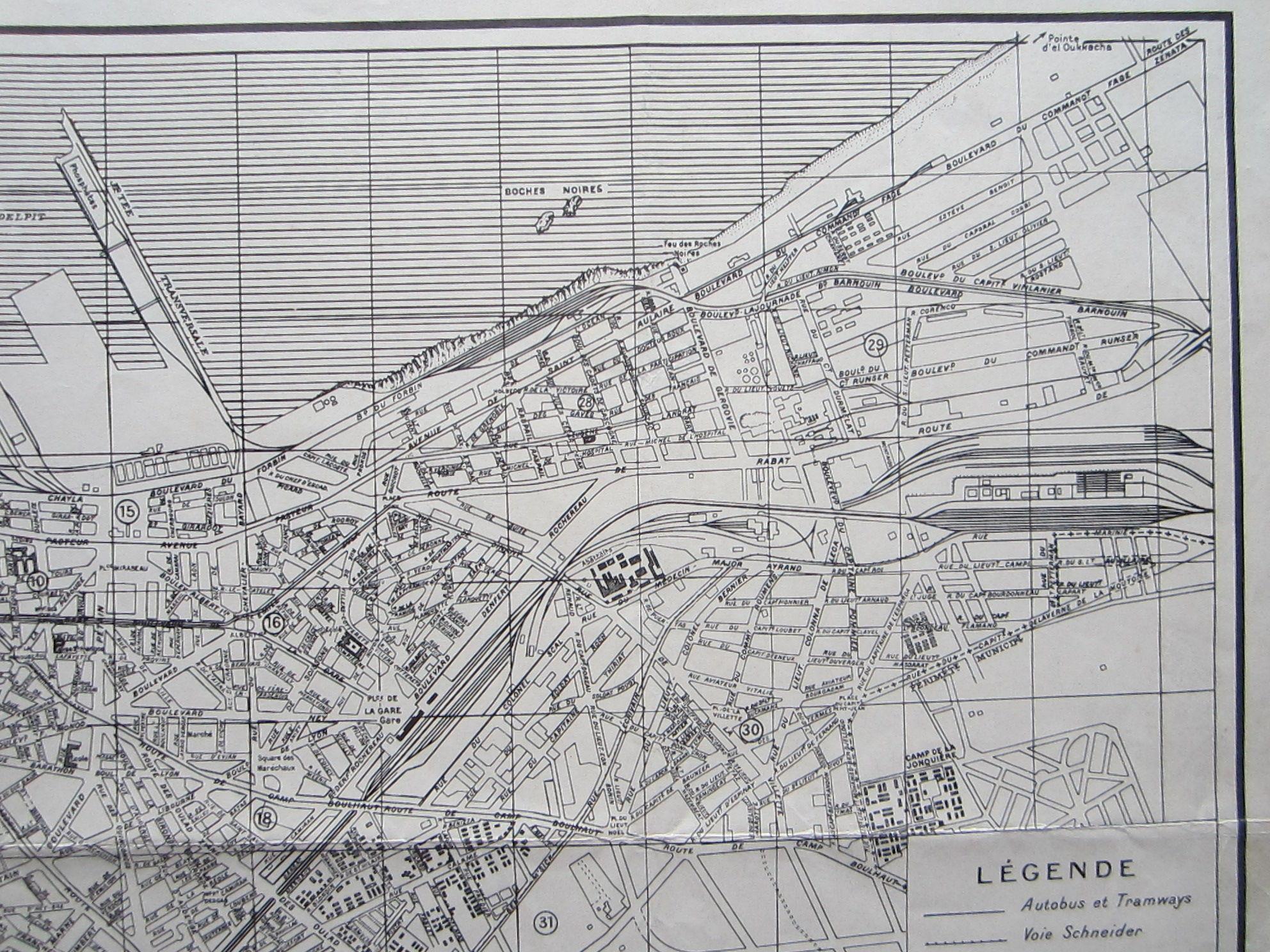 Plan de Casablanca … Reproduced by 954th Engineer Co. (TOP) (AVN) (photo 4)