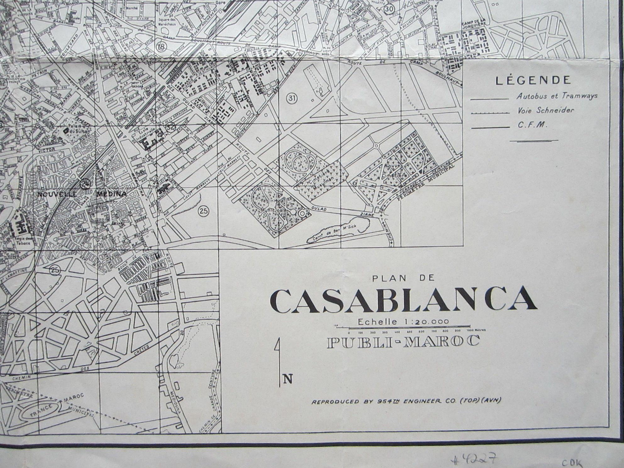 Plan de Casablanca … Reproduced by 954th Engineer Co. (TOP) (AVN) (photo 5)