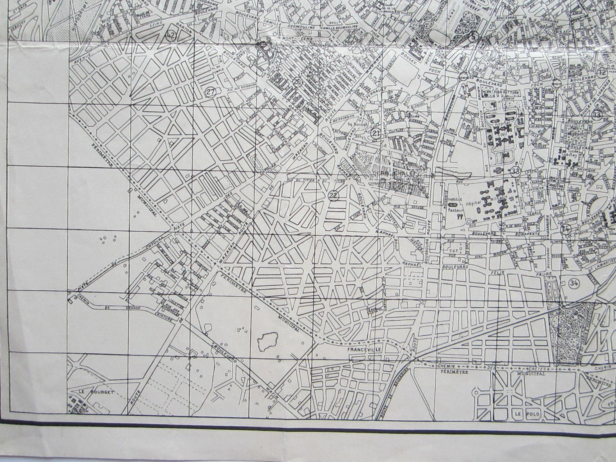 Plan de Casablanca … Reproduced by 954th Engineer Co. (TOP) (AVN) (photo 6)