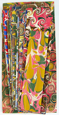 Forty marbled paper specimens