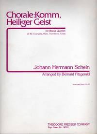 Chorale: Komm, Heiliger Geist - Arrangement for Brass Quintet [SCORE & PARTS]