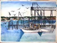 image of Maine Fishermen in the Harbor