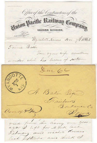 This letter on the stationery of the Union Pacific Railway Company, Eastern Division is datelined, W...