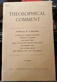 Theosophical Comment Articles by H.P. Blavatsky
