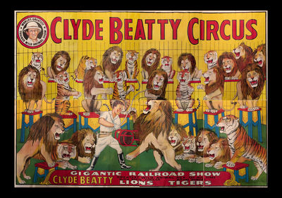 8 sheet lithographic poster measuring 117 x 168 inches. This poster was acquired by a collector from...