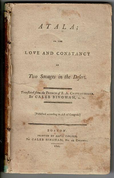 Boston: printed by David Carlisle, for Caleb Bingham, no. 44 Cornhill, 1802. First American edition,...